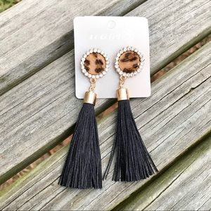 ✨NEW✨Leopard Fringe Earrings!